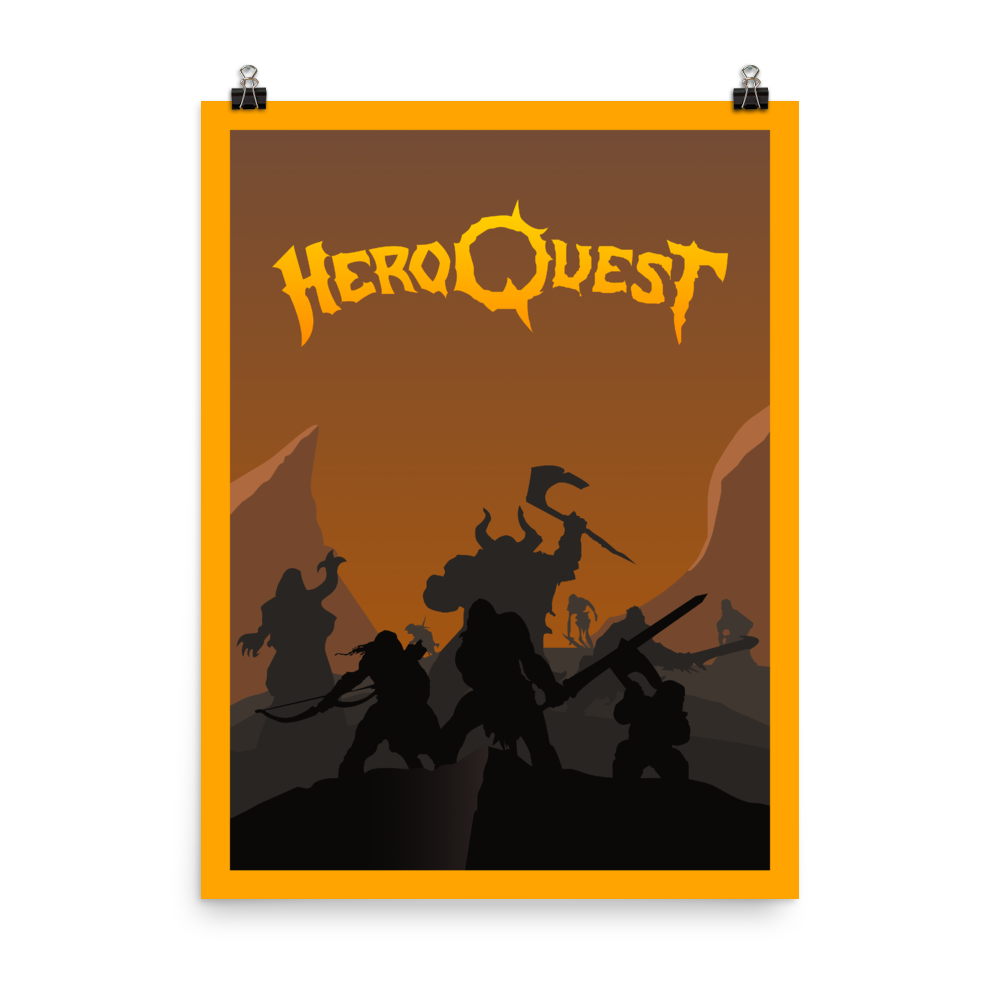 HeroQuest Minimalist Board Game Art Poster