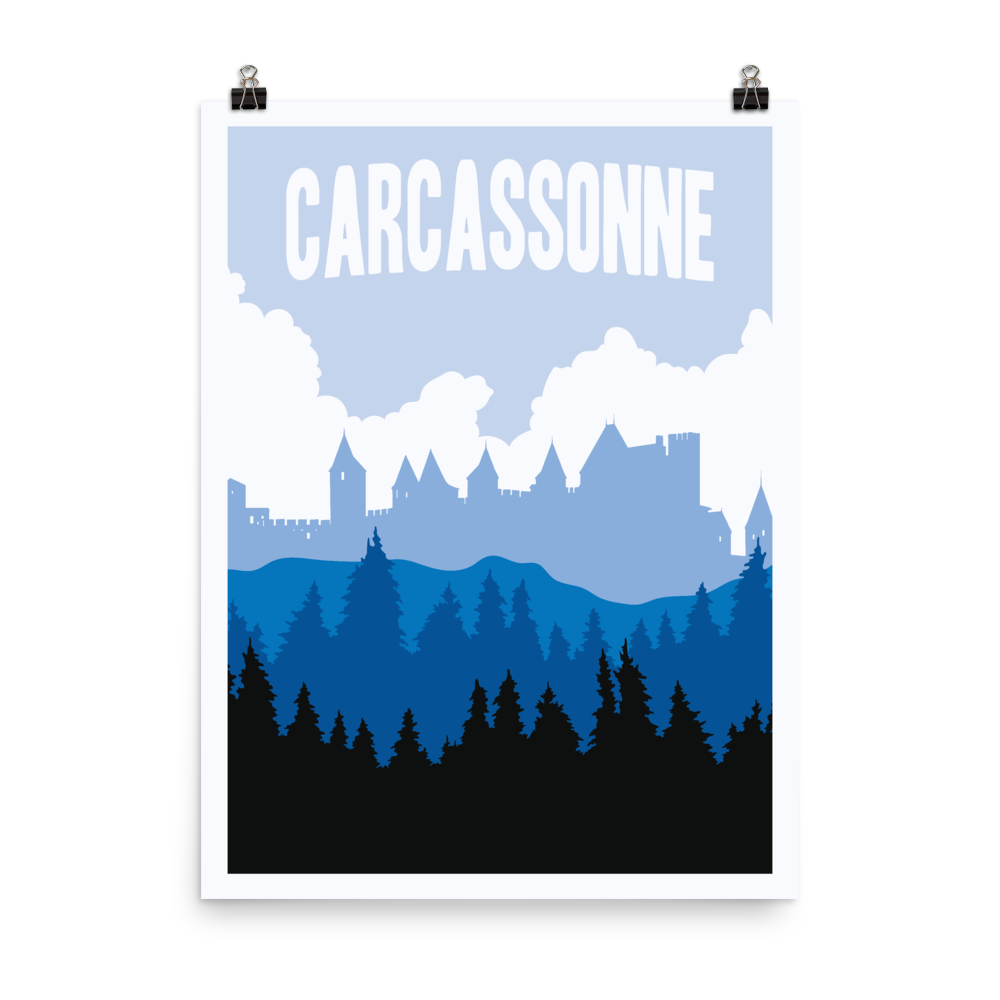 Carcassonne Minimalist Board Game Art Poster