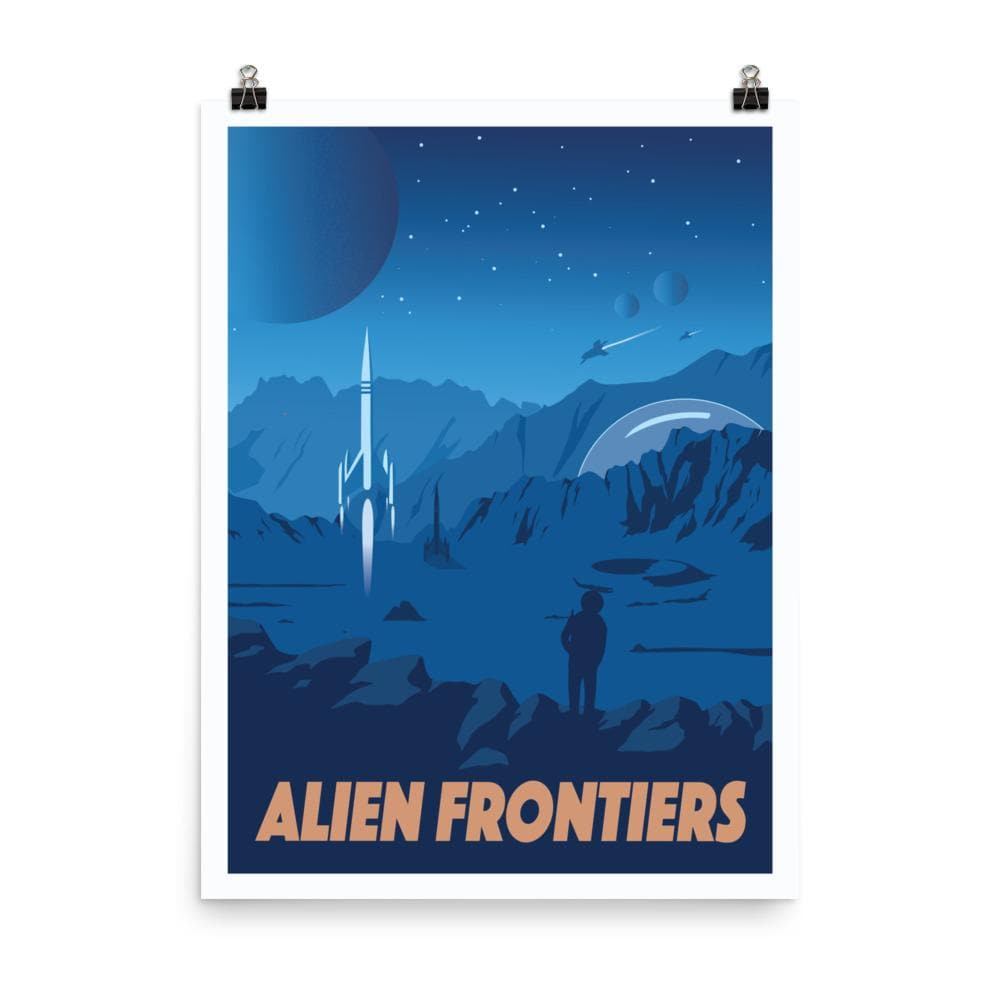 Alien Frontiers Minimalist Board Game Art Poster