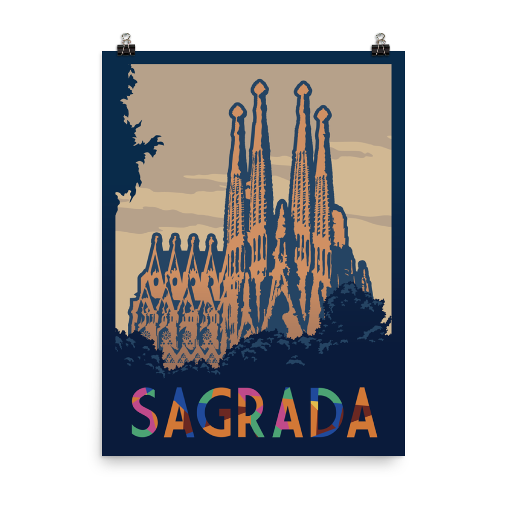 Sagrada Minimalist Board Game Art Poster