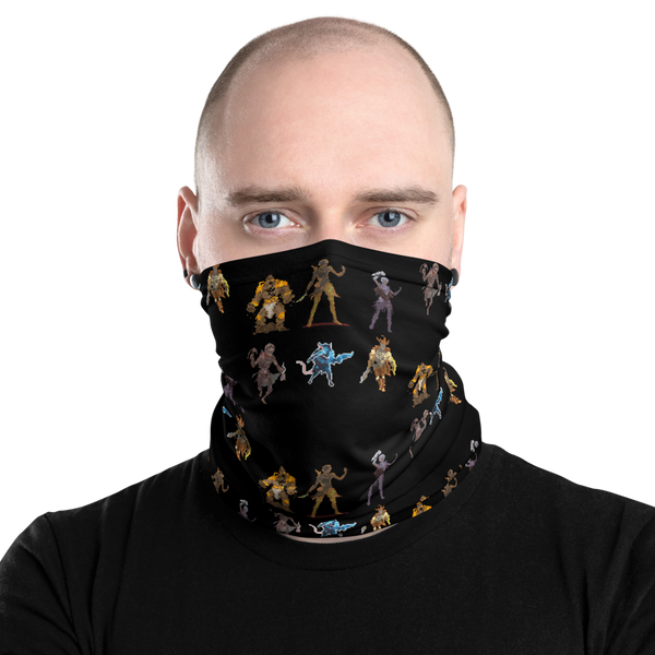 Gloomhaven Pixel Starting Classes Inspired Unisex Neck Gaiter/ Face Mask