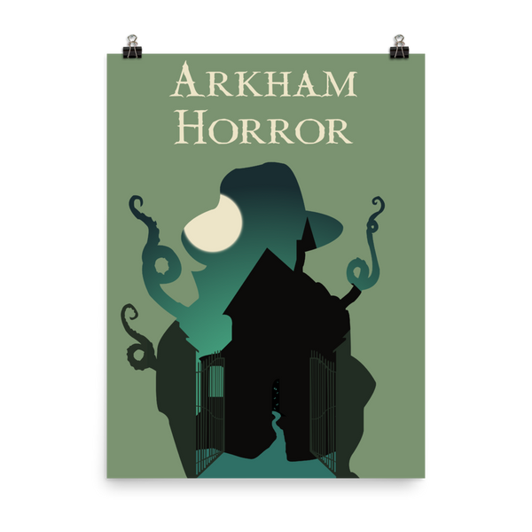 Arkham Horror Board Game Silhouette Art Poster