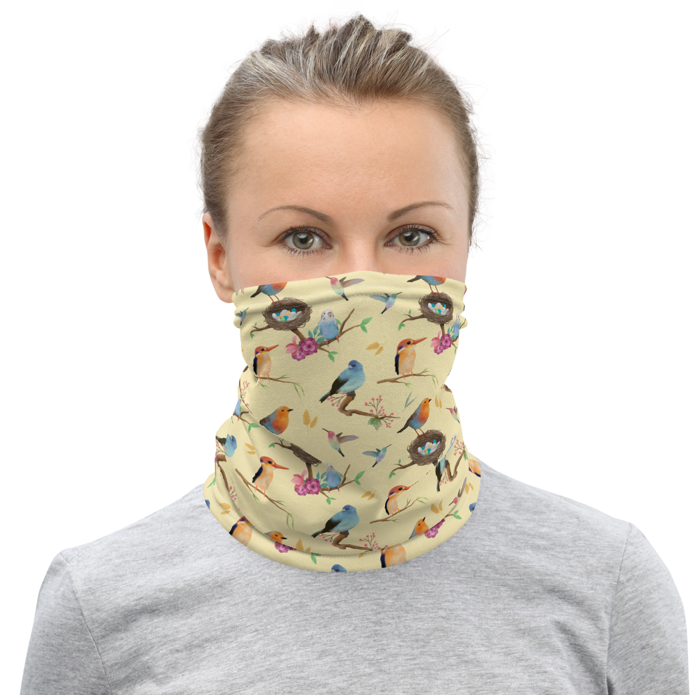 Wingspan (Yellow) Inspired Unisex Neck Gaiter/ Face Mask