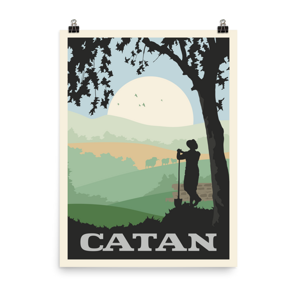 Catan Board Minimalist Board Game Art Poster