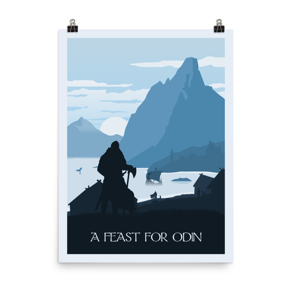 A Feast for Odin Minimalist Board Game Art Poster