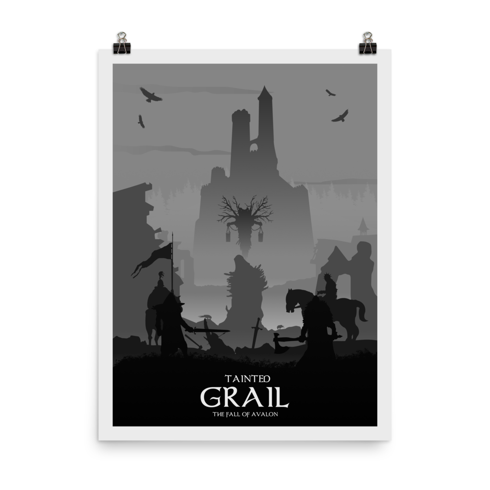 Tainted Grail Minimalist Board Game Art Poster