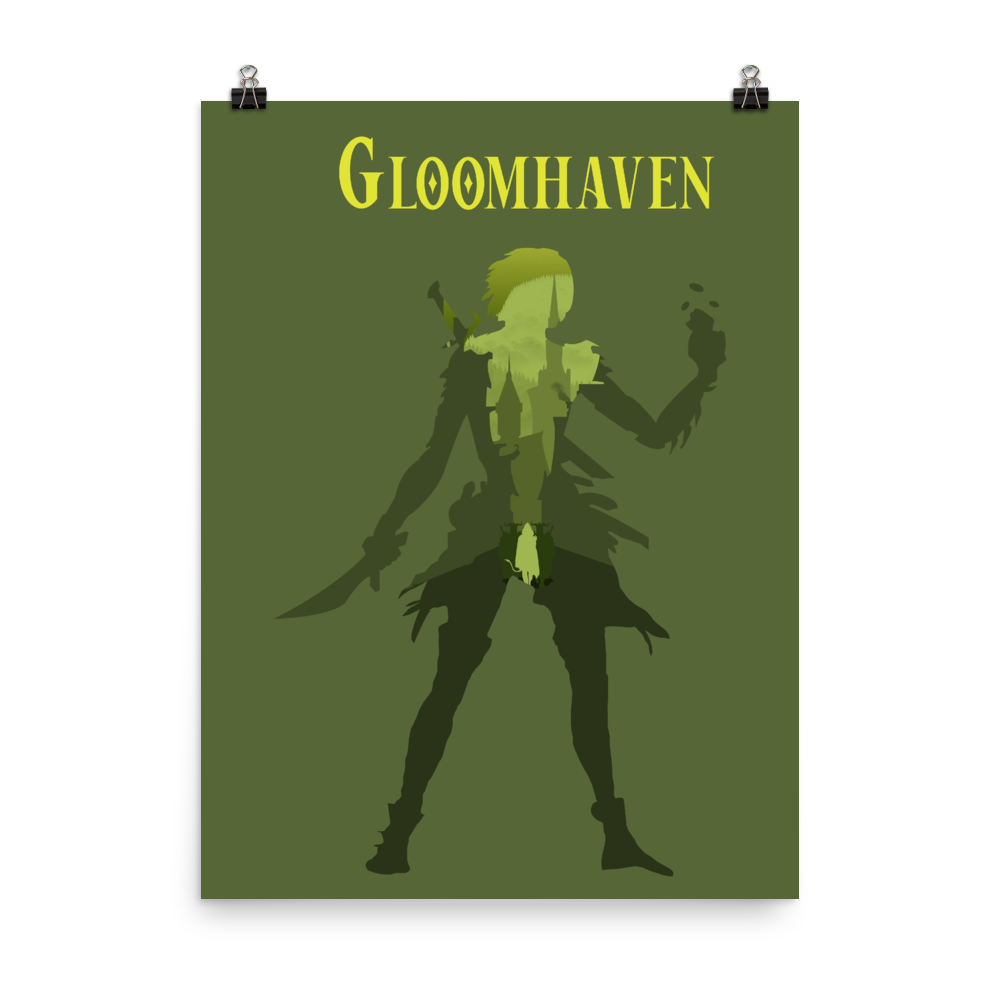 Gloomhaven Board Game Scoundrel Silhouette Art Poster