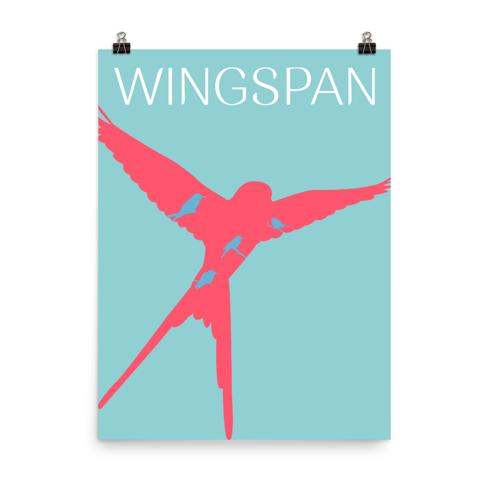 Wingspan Board game Bird Silhouette Art Poster