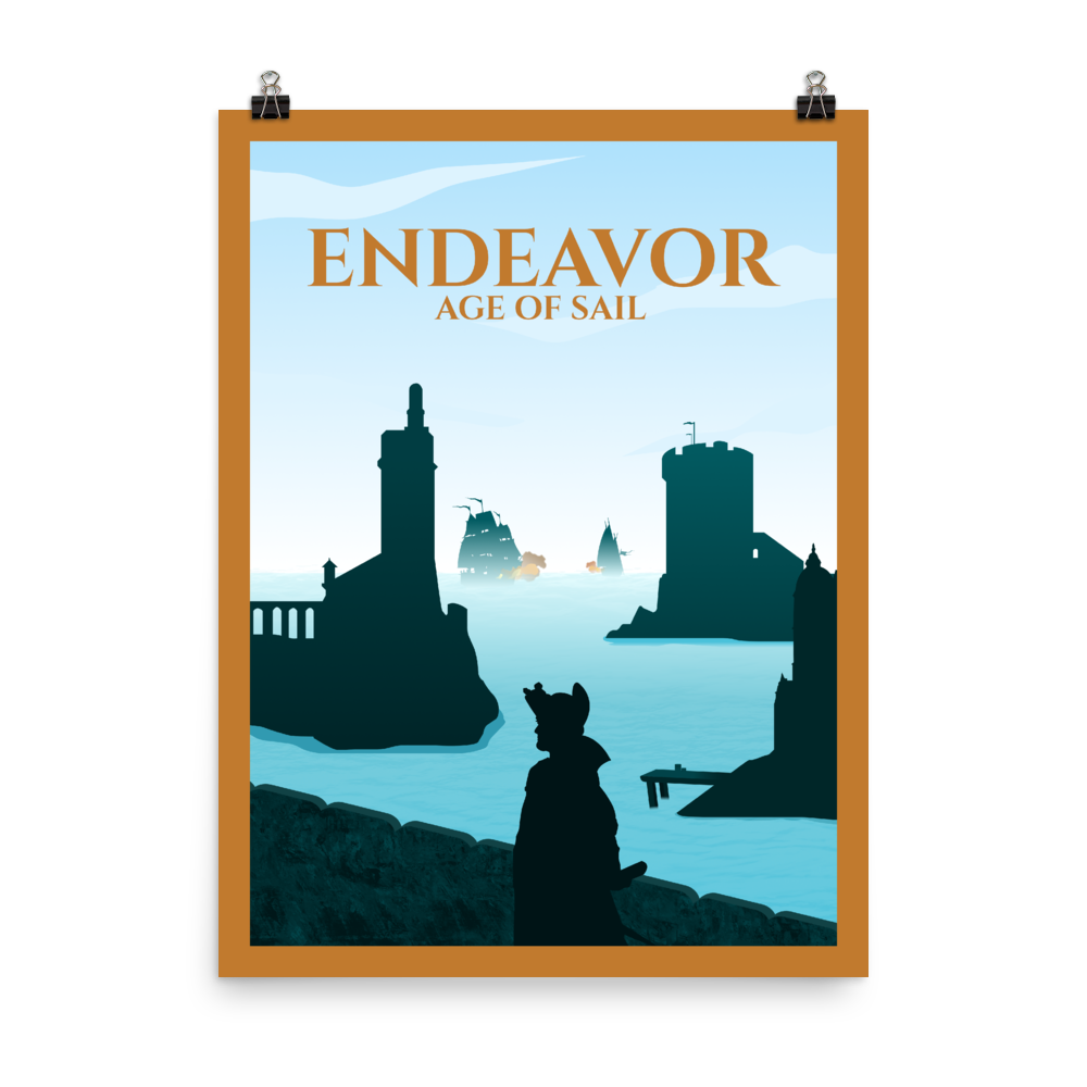 Endeavor - Age of Sail Minimalist Board Game Art Poster