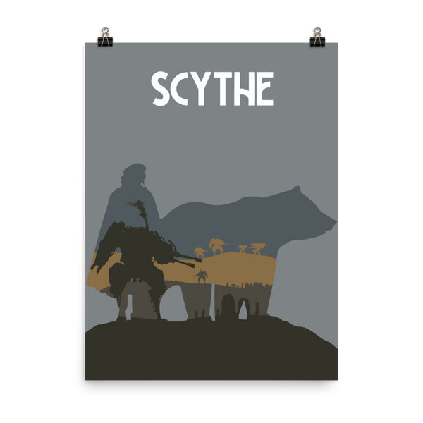Scythe Board game Vertical Silhouette Art Poster