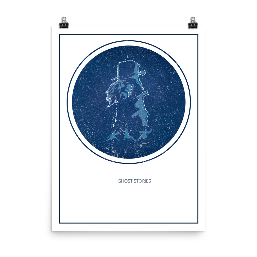 Ghost Stories Board Game White Star Constellation Art Poster