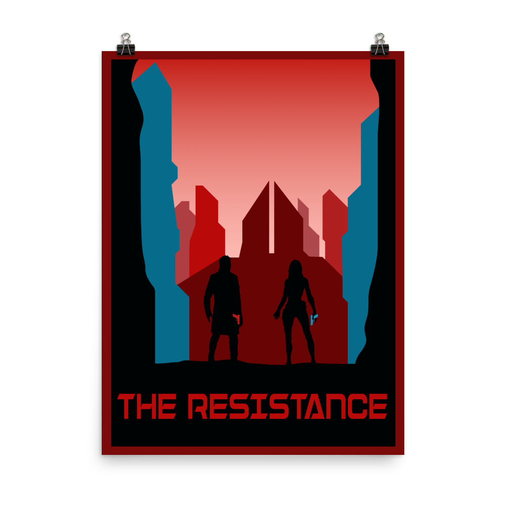 The Resistance (Red) Minimalist Board Game Art Poster