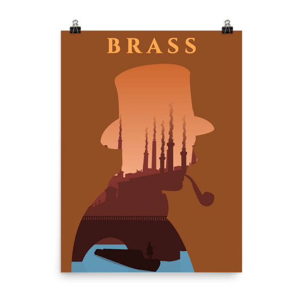 Brass Board game Silhouette Art Poster