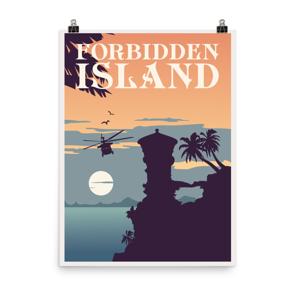 Forbidden Island Minimalist Board Game Art Poster