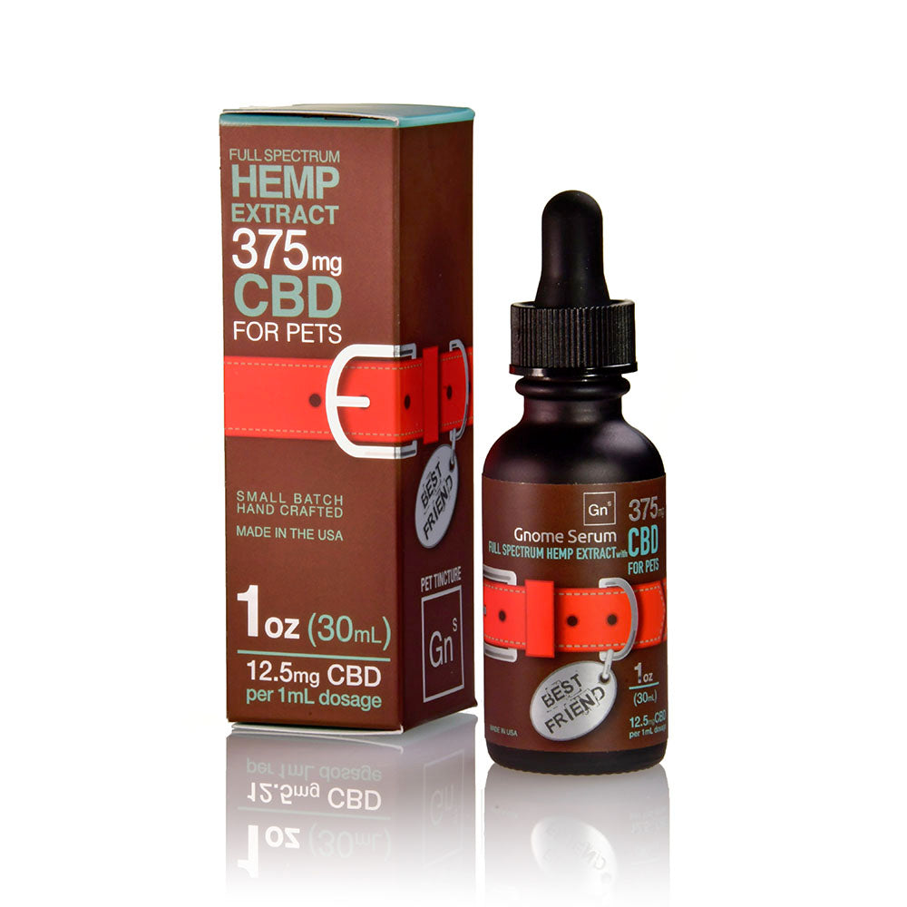 Best Friend Tincture Full Spectrum Hemp Extract with  Ahiflower oil  375MG (12.5 mg per 1 ml dropper)