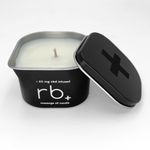 rb+ unscented massage oil candle - 3 oz.