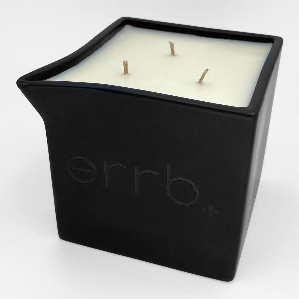 errbshop - errb+ cbd infused massage oil candle - 24 oz.