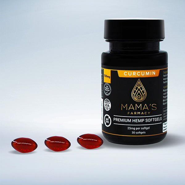 Premium Hemp Softgels with Curcumin