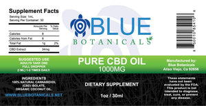 Pure CBD Oil Natural - 1000mg