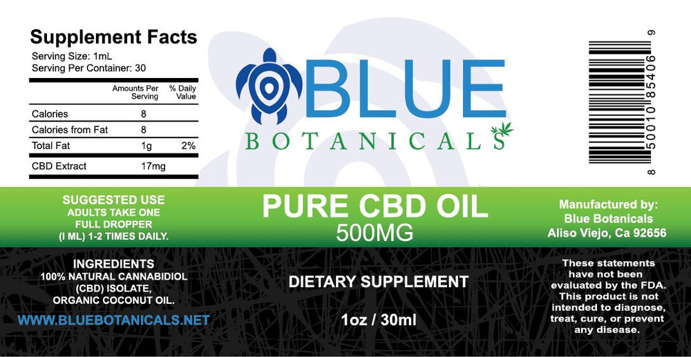 Pure CBD Oil Natural - 500mg