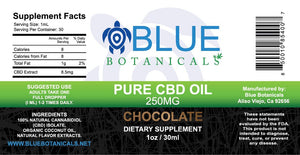 Pure CBD Oil Chocolate - 250mg