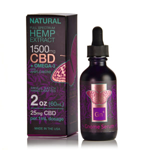 Tincture Full Spectrum Hemp Extract  1500mg 2 oz.  Natural Flavor (25mg per 1 ml 1 dropper)