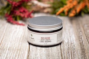 CBD Body Cream - 300mg - Red Rose