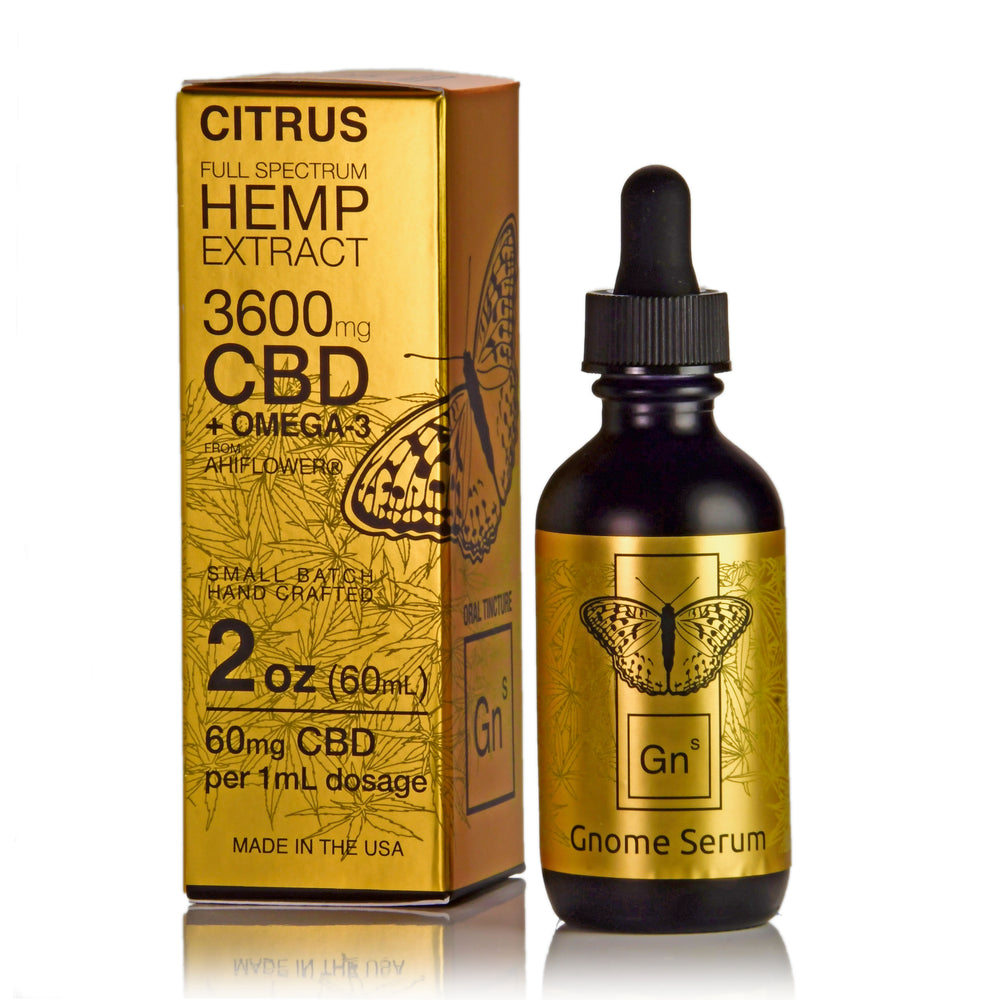 Tincture Full Spectrum Hemp Extract 3600mg 2 oz. Citrus Flavor  (60mg per 1 ml 1 dropper)