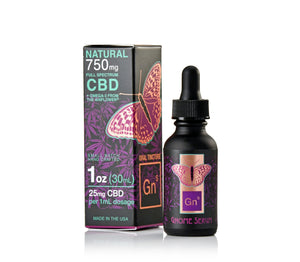 Tincture Full Spectrum Hemp Extract 750mg Natural Flavor (25mg per 1 ml 1 dropper)