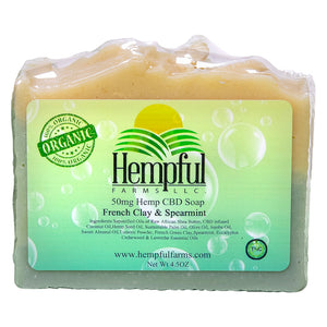 Hemp CBD Soap French Clay and Spearmint