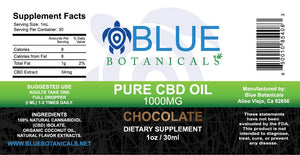 Pure CBD Oil Chocolate - 1000mg