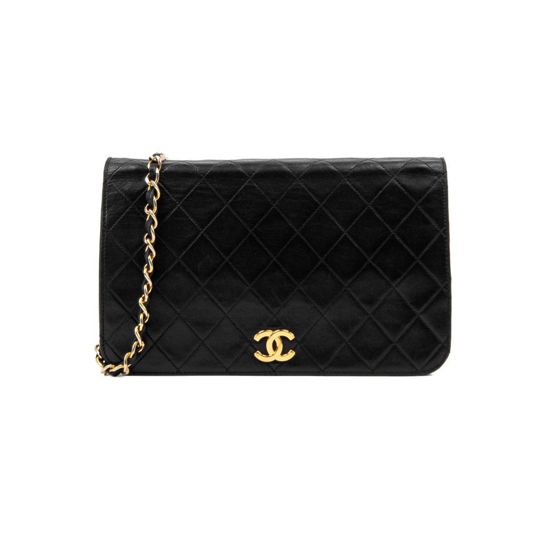 Vintage Chanel Lambskin Full Flap Bag
