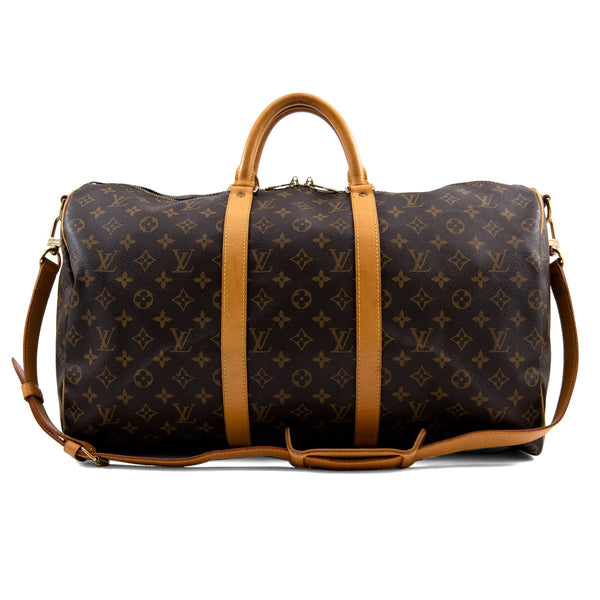 LOUIS VUITTON Monogram Canvas Keepall 50 Bag with Strap