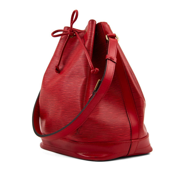 LOUIS VUITTON Red Epi Leather Noe Bag