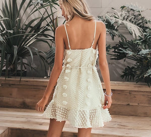 Elegant embroidery short dress