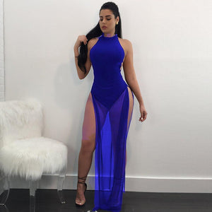 Sexy See-through Mesh Maxi Dress