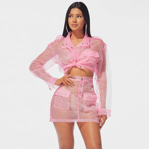 Organza Mesh Sexy Two Piece Set