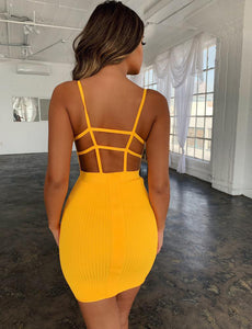 Sexy Bandage Hollow Out Dress