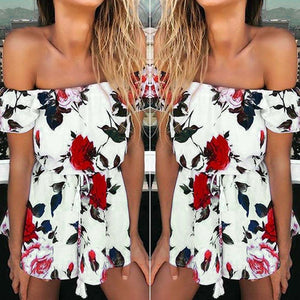 Women's Floral Prints Playsuit