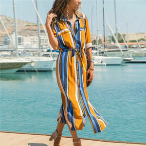 HOT Fashion Striped Boho Dress