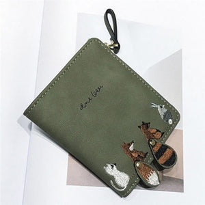Cute Animal Print Short Wallet