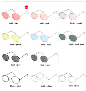 2018 Ladies hexagon Rimless sunglasses
