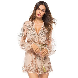 Mesh Full Sleeve Playsuit
