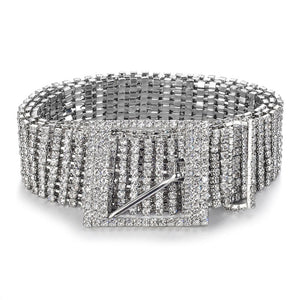Full Rhinestone Shiny Waistband Belt
