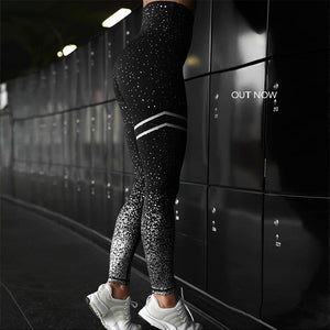 Women's Gold Print Leggings