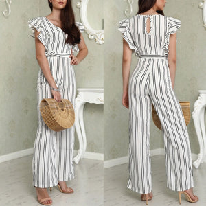 Chiffon Long Trousers Romper