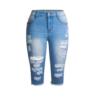 Denim Knee length Jeans