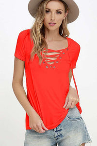 V-neck Short Sleeve T Shirts