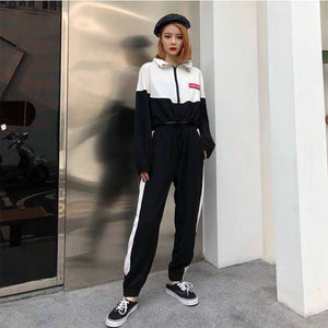 Loose Long Sleeves Two-piece pants Suit