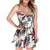 2020 Summer Slash Neck Print Playsuit for women